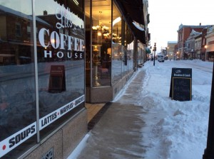 We had some shoveling to do before we could open!
