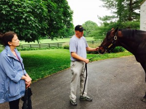 One of the Deltas admiring 2013 KY Derby winner Orb at Claiborne.